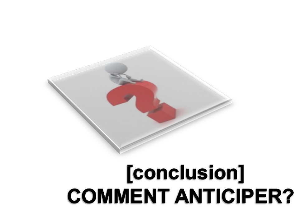 [conclusion] COMMENT ANTICIPER